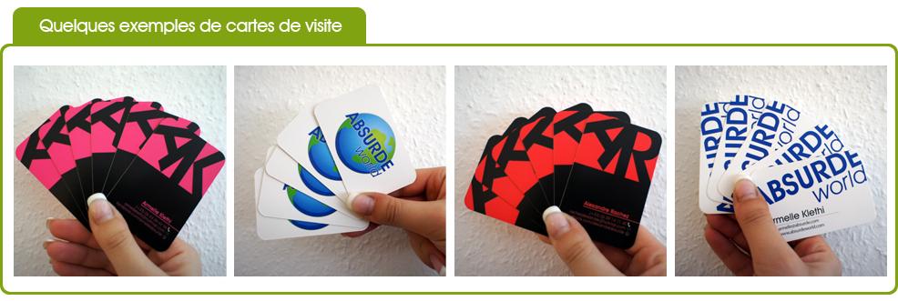 exemples de cartes de visite 450g